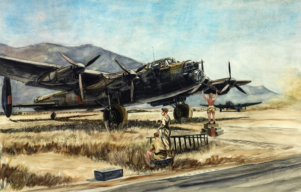 Picture bomber, Australia, four-engine, 1943, heavy, Avro Lancaster