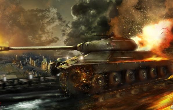 Picture USSR, WoT, World of Tanks, Himmelsdorf, World Of Tanks, Wargaming Net, Is-6, Soviet Tank