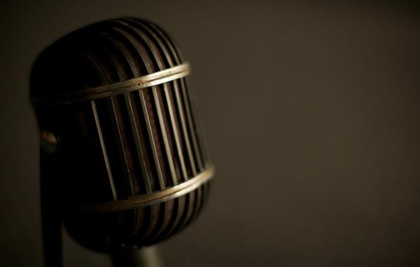 Picture macro, style, retro, music, sound, microphones, sound