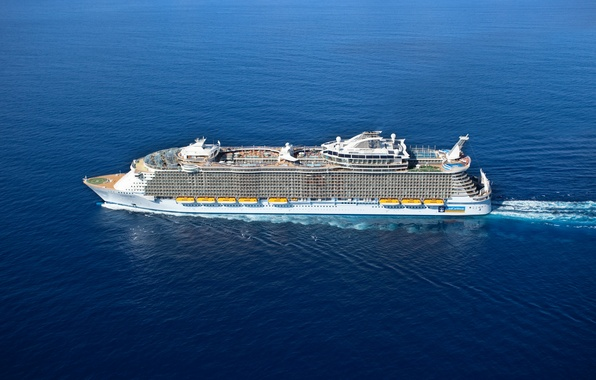 Picture Sea, Liner, The ship, The view from the top, Passenger, On The Go, Oasis