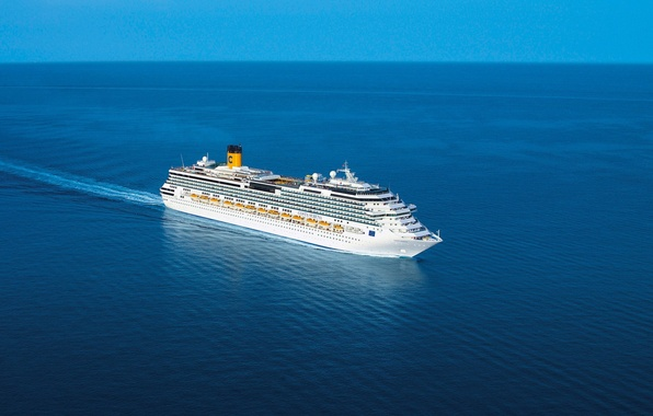 Picture landscape, the ocean, stay, ship, Sea, liner, floats