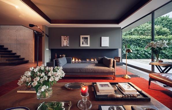 Picture fireplace, Interior, design furniture