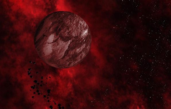 Picture fragments, the universe, color, planet, orbit