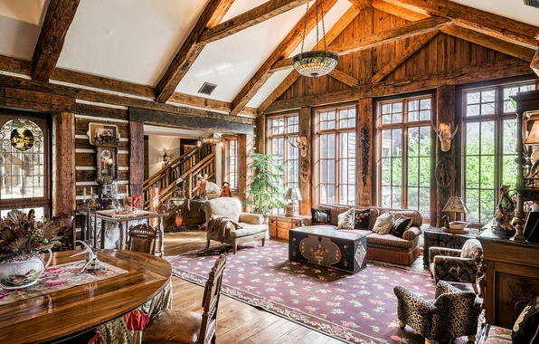 Picture wooden, home, luxury, great room, new jersey