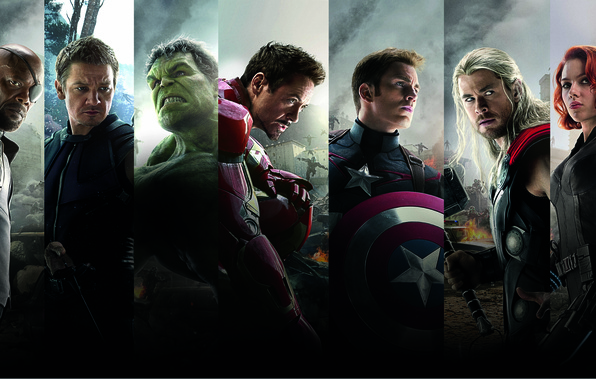 Picture Scarlett Johansson, Heroes, Hulk, Iron Man, The, Captain America, Team, Thor, Black Widow, Robert Downey …