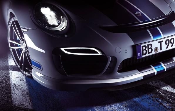 Picture Auto, White, Headlight, 911, Porsche, Disk, Machine, Wheel, Logo, The hood, Turbo, The front, Sports …