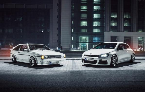 Picture white, Volkswagen, white, front, Volkswagen, Scirocco, Ciprian Mihai
