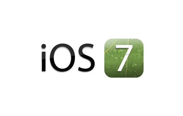 Picture white, background, operating, system, version, 7 iOS, icon