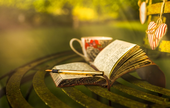 Picture style, handle, mug, notebook, bokeh, diary