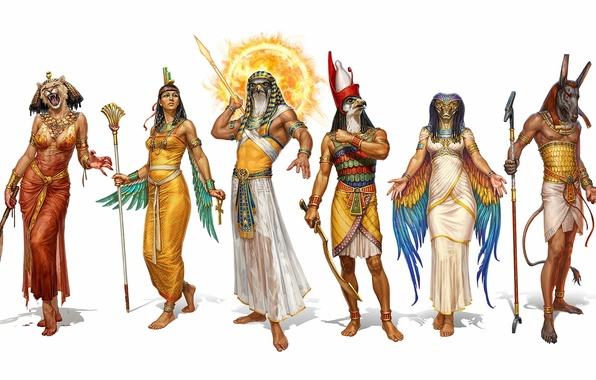 Picture art, the gods, Ancient Egypt