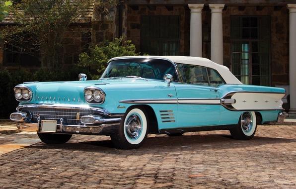 Picture background, classic, Pontiac, Pontiac, the front, Convertible, Custom, 1958, Bonneville, Bonneville
