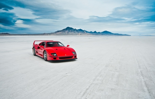 Picture machine, lake, Ferrari F40