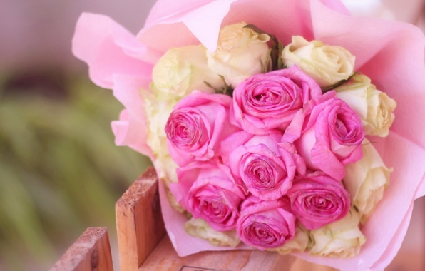 Picture white, flowers, background, widescreen, Wallpaper, roses, bouquet, wallpaper, pink, flowers, widescreen, background, full screen, HD …