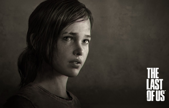 Picture look, Sepia, girl, scar, games, naughty dog, the last of us, messy hair