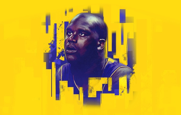Picture Sport, Face, Basketball, Los Angeles, NBA, Lakers, Player, Shaquille O'neal, Shaquille O'neal
