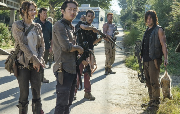 Picture weapons, team, the series, The Walking Dead, The walking dead, voltage