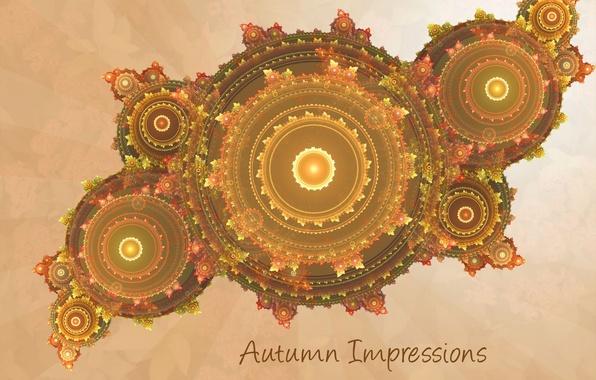 Photo wallpaper yellow, fractals, carpet, background