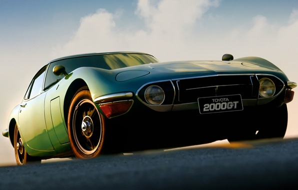 Picture coupe, Toyota, classic, 1970, the front, Toyota, 2000GT
