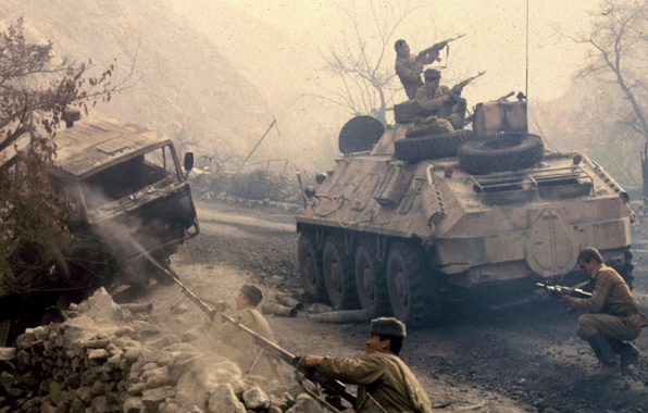 Picture Heroes, Soldiers, Military, USSR, Shootout, Afgan, Afghan war, BTR-60