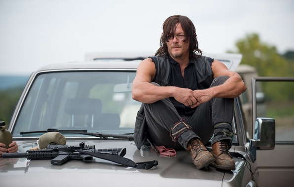 Picture the hood, The Walking Dead, The walking dead, Norman Reedus, Daryl Dixon
