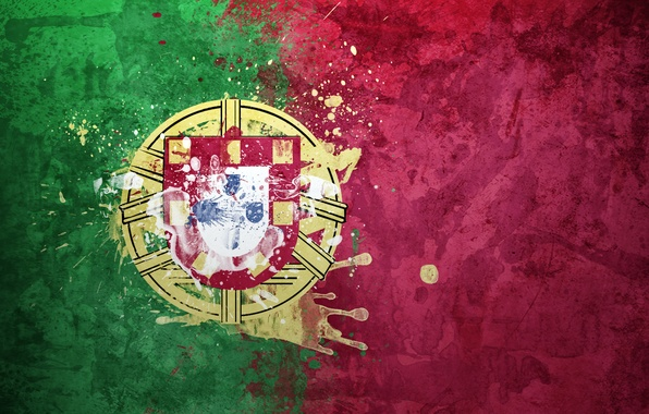 Picture paint, flag, Portugal, coat of arms, flag, The Portuguese Republic, The Portuguese Republic