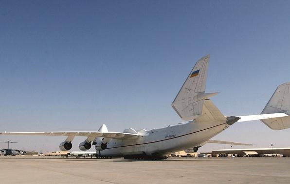 Picture White, The plane, Wings, Aviation, Mriya, The an-225, Cargo, Jet, Antonov, Cossack, Ан225