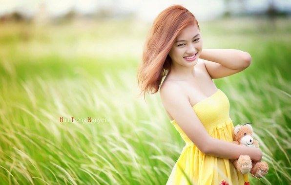 Picture summer, girl, mood, Asian