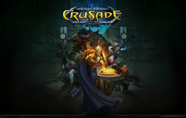 Picture elf, dwarf, wow, Tauren, Troll, call of the crusade, the call of the avant-garde, man