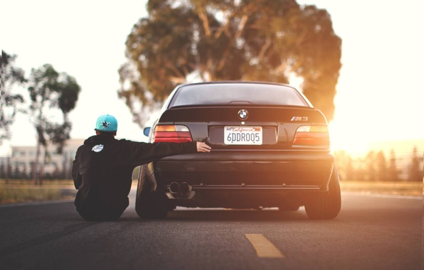 Picture BMW, cap, guy, Coupe, E36