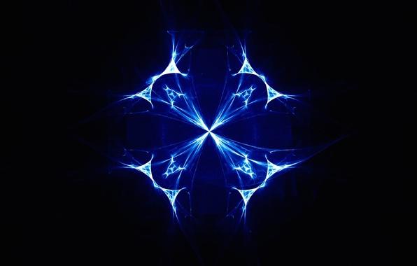 Picture light, line, pattern, color, fractal, twilight, symmetry