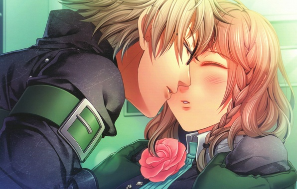 Photo Wallpaper Rose Kiss Art Pigtail Kent Closed Eyes Amnesia