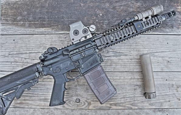 Picture rifle, muffler, carabiner, assault, semi-automatic