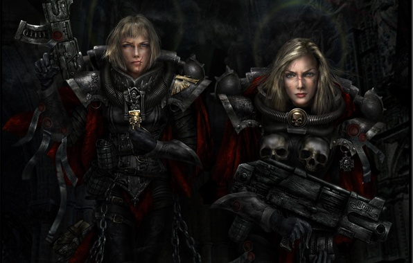 Picture women, weapons, Warhammer, Adept Sororitas, Sisters Of Battle, 40k