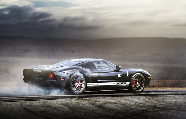 Picture supercar, burnout, ford gt