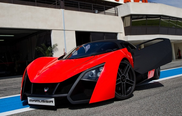 Picture supercar, red, Russia, black, Marusya, MaRussia