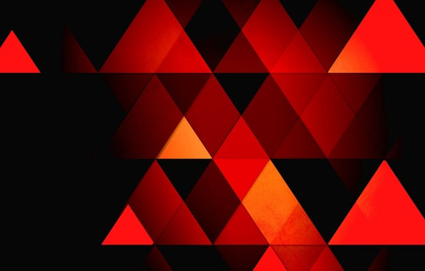 Picture abstraction, background, triangles, faces