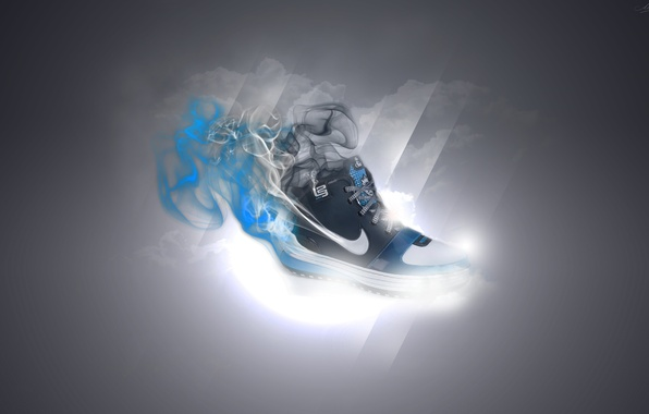Picture light, style, patterns, sport, smoke, shoes, light, sport, smoke, style, patterns, nike, 2560x1600, shoes, running …