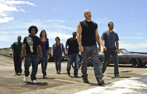 Photo wallpaper vin diesel, VIN diesel, Paul Walker, fast and furious 5, fast five, paul walker