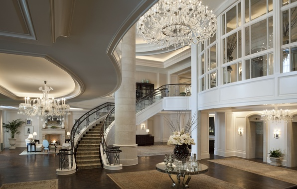 Picture house, table, Wallpaper, Villa, interior, flooring, ladder, chandelier, wallpaper, fireplace, penthouse, apartment, expensive, penthouse, hall, …