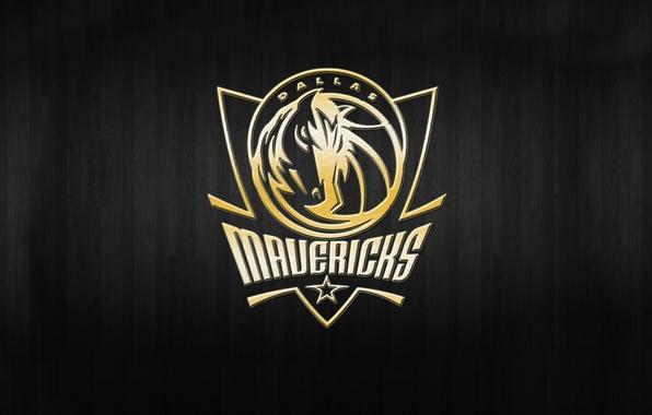Picture Basketball, Background, Logo, Gold, NBA, Dallas Mavericks