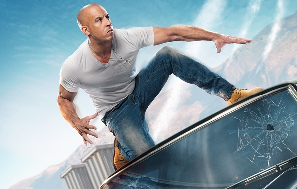 Picture actor, VIN Diesel, The fast and the furious, Supercharged, Fast & Furious