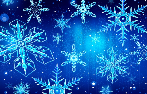 Picture winter, holiday, pattern, vector, snowflake