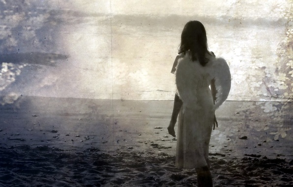 Picture girl, style, background, mood, angel