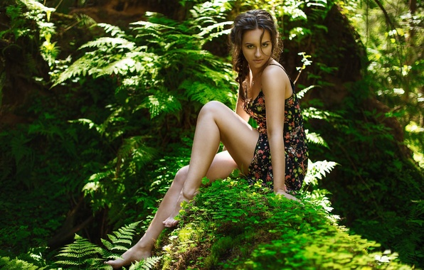 Picture Girl, Light, Nature, Beautiful, Sexy, Model, Green, Female, Beauty, Eyes, Summer, Face, Cute, Forest, Trees, …