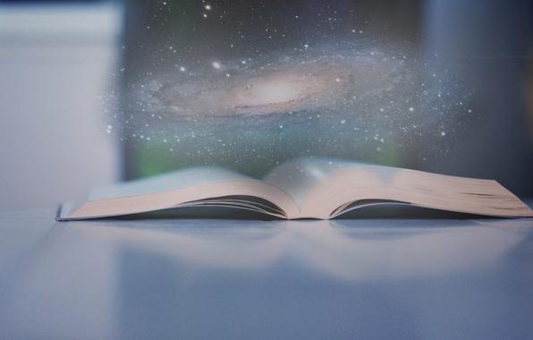 Photo wallpaper space, universe, nice, galaxy, Book, fantasy