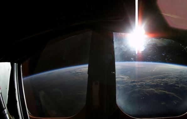 Picture flight, Earth, orbit, Shuttle