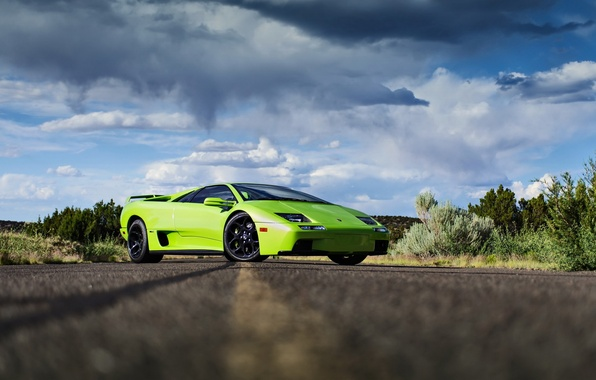 Picture road, lamborghini, supercar, diablo, rechange, lunchbox photoworks