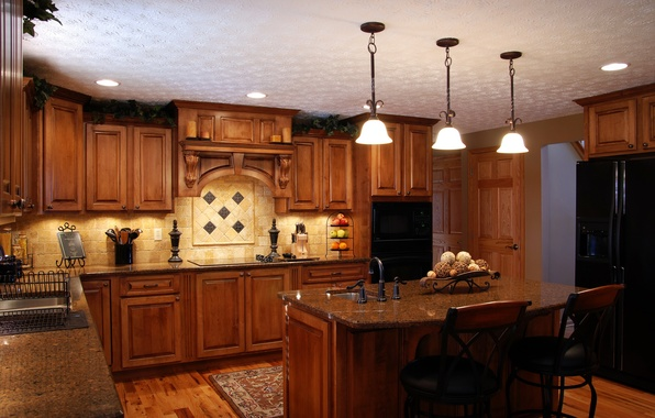 Picture house, style, furniture, interior, kitchen, headsets