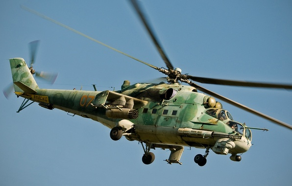 Picture aviation, helicopter, combat, BBC, OKB, Russian, Mi-24, Soviet, transport, Of the Russian Federation., Mil, development