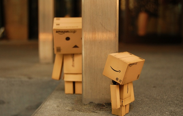 Picture macro, find, box, toy, the game, robot, post, hide and seek, cardboard, robot, danbo, box, …